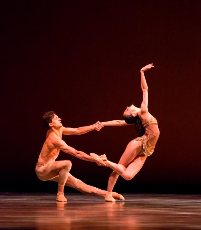 Victoria Jaiani and Temur Suluashvili in Yuri Possokhov's Adagio. Possokhov's RAkU - Cheryl Mann Productions