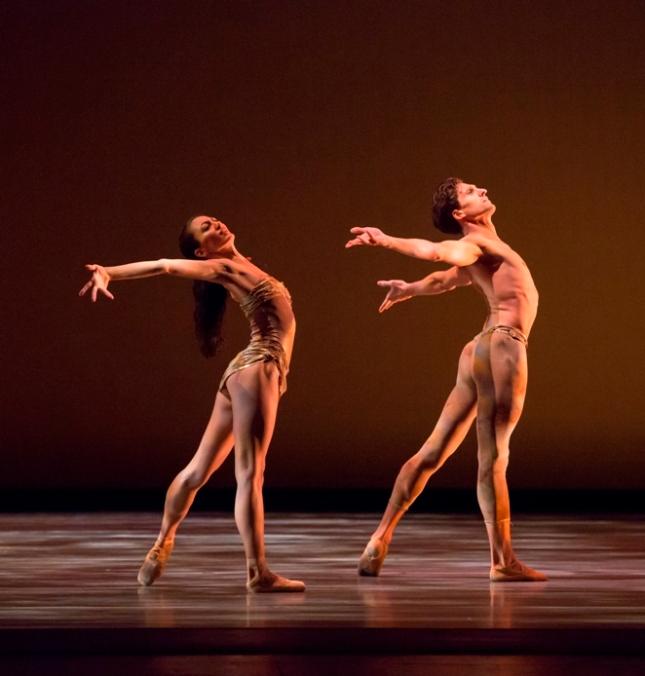 Victoria Jaiani and Temur Suluashvili in Yuri Possokhov's Adagio. Possokhov's RAkU - © Cheryl Mann Productions