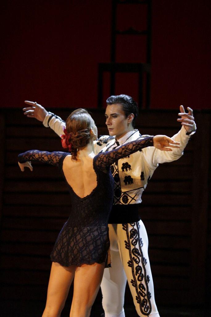 Photograph:yekaterina kondaurova of the kirov (mariinsky) ballet dances the role of alma in kirill simonovs ballet